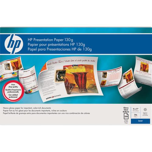 "HP Laserjet Glossy Presentation Paper (130 gsm) 11 x 17"" / 250 Sheets"