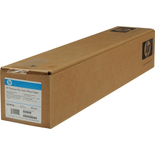 "HP Premium Plus Photo Satin Paper - 24"" x 50' Roll"