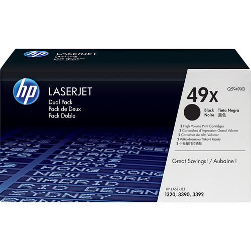 HP LaserJet 49X Black Toner Cartridge (Dual Pack)