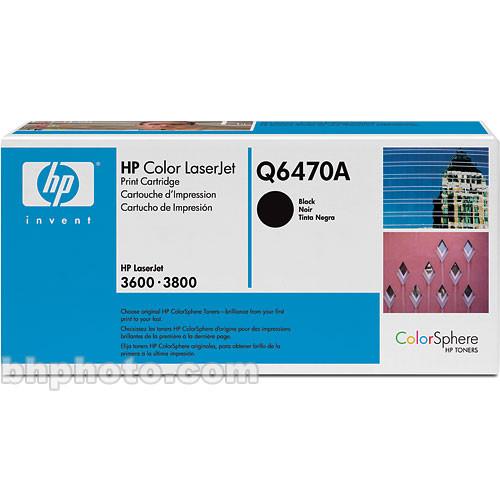 HP LaserJet Q6470A Black Print Cartridge