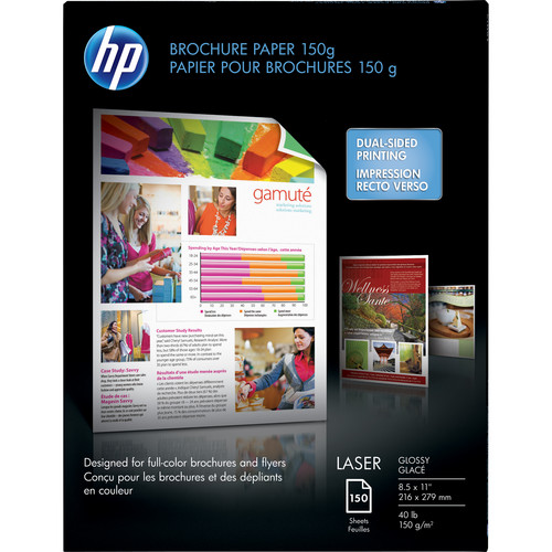 "HP Color Laser Brochure Paper (Glossy) - 8.5x11"" - 150 Sheets"