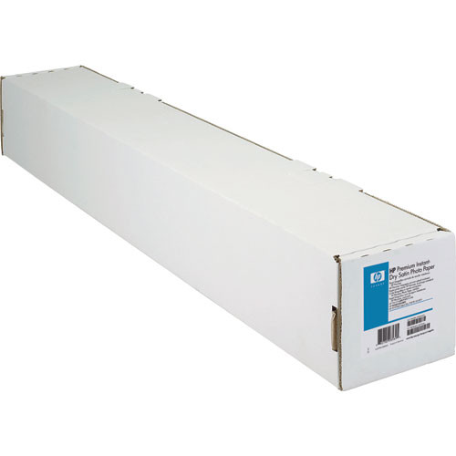 """HP Premium Instant-dry Satin Photo Paper - 24"""" Wide Roll - 75' Long"""