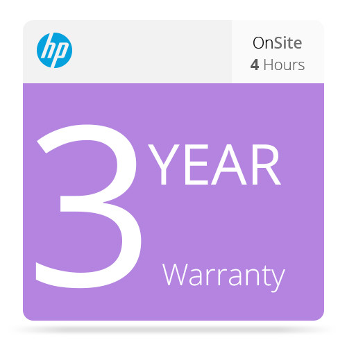 HP 3-Year 4-Hour Response 13x5 Onsite Support for Z3100/Z3200 Printers