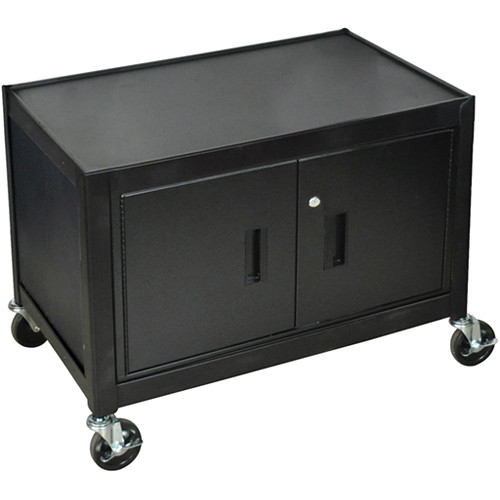 mobile cabinet h wilson mc29e mobile cabinet 29 quot high black mc29e b amp h 23434