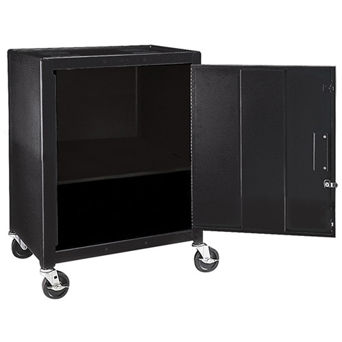 "H. Wilson MC34E  Mobile Cabinet - 34"" High (Black)"