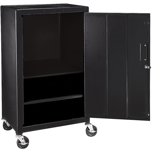 "H. Wilson MC42E  Mobile Cabinet - 42"" High (Black)"