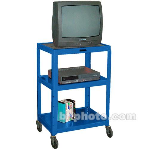 "H. Wilson W42AEBL  Metal Open Shelf Utility Cart (24 x 24-42 x 18"") (Blue)"