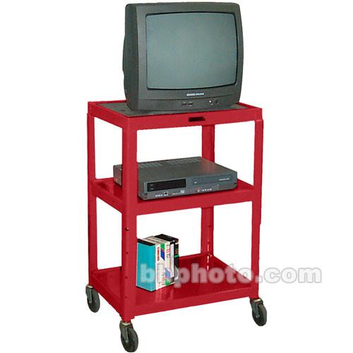 "H. Wilson Metal Cart/Elec 26-42x24x18"" (Red)"