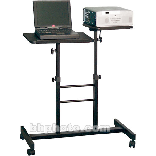 "H. Wilson WPSDA Adjustable Presentation Station - 31 x 32.5-41.5 x 14.5"" (Black)"