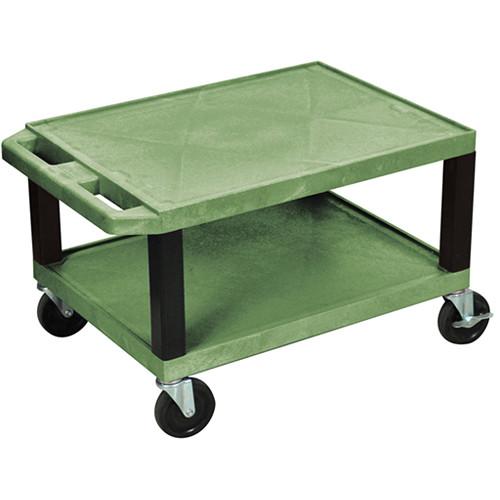 "Luxor WT16EGQ  Tuffy Open Shelf A/V Cart (16 x 24 x 18"")  (Green)"