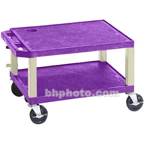 "Luxor WT16EP  Tuffy Open Shelf A/V Cart (16 x 24 x 18"")  (Purple)"