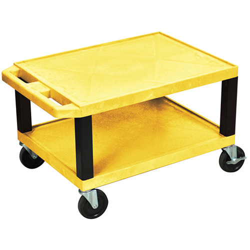 "Luxor WT16EY  Tuffy Open Shelf A/V Cart (16 x 24 x 18"")  (Yellow)"