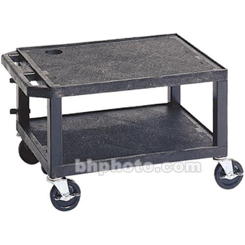 "Luxor 16"" Tuffy 2-Shelf Utility Cart (16 x 24 x 18"", Black)"
