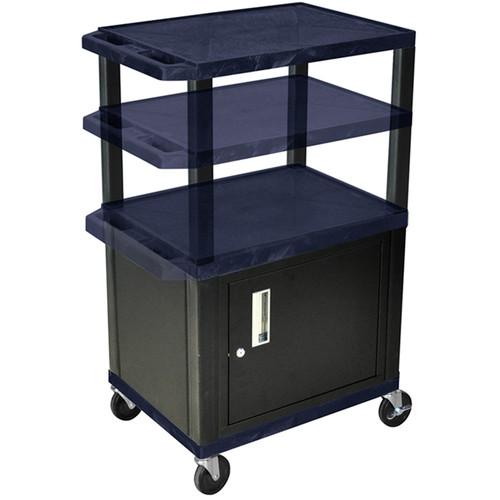 "Luxor WT2642CETB  Tuffy Cabinet Cart (24 x 26-42 x 18"") (Topaz)"