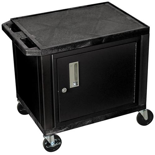 "Luxor WT26C2E Tuffy Utility Audio-Visual Cabinet Cart (24 x 18 x 24.5"", Black)"