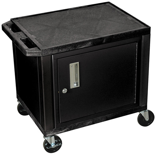 "Luxor WT26C2E Tuffy Utility Audio-Visual Cabinet Cart (24 x 18 x 24.5"", Black)"