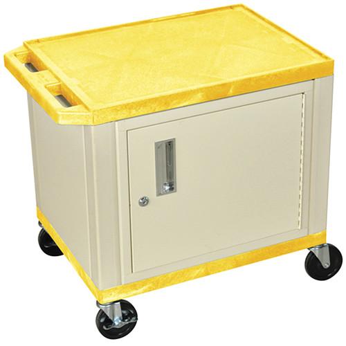 "Luxor WT26C3EY  Tuffy Cabinet Cart (24 x 18 x 24.5"", Yellow)"