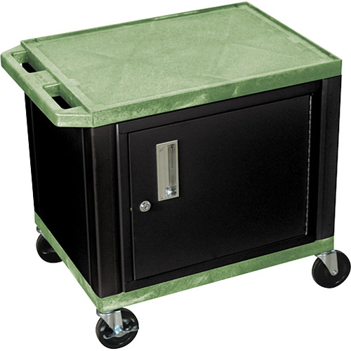 "Luxor 24.5"" Tuffy Cart with Cabinet and Electrical Assembly (Green)"