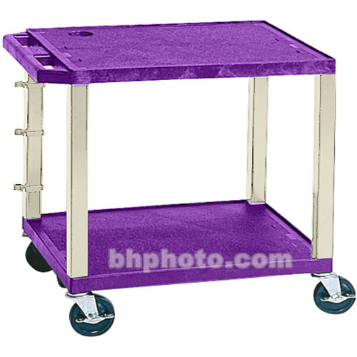 "Luxor WT26E-P Tuffy Open Shelf A/V Cart (24.5 x 24 x 18"") (Purple with Putty Legs)"
