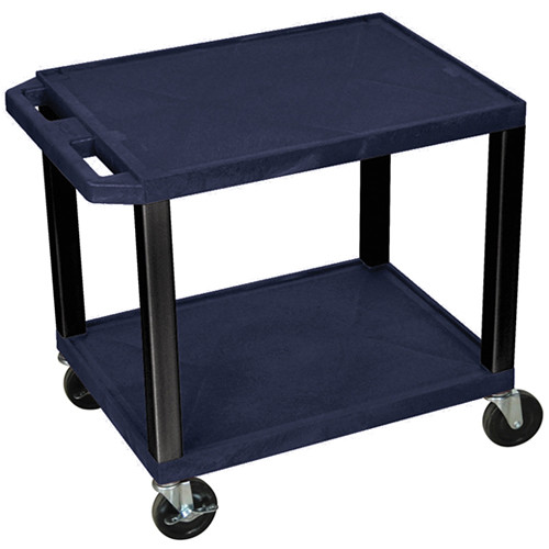 "Luxor WT26ZE-B Tuffy Open Shelf A/V Cart (24.5 x 24 x 18"") (Topaz with Black Legs)"