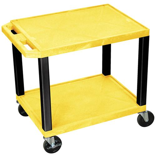"Luxor WT26YE-B Tuffy Open Shelf A/V Cart (24.5 x 24 x 18"") (Yellow with Black Legs)"