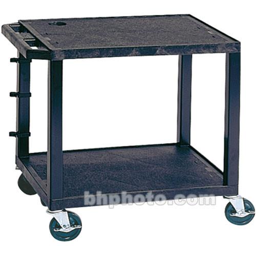 "Luxor WT26E Tuffy Open Shelf A/V Cart (24 x 24.5 x 18"", Black)"
