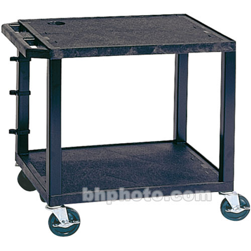 "Luxor WT26E Tuffy Open Shelf A/V Cart (24 x 24.5 x 18"", Black)"