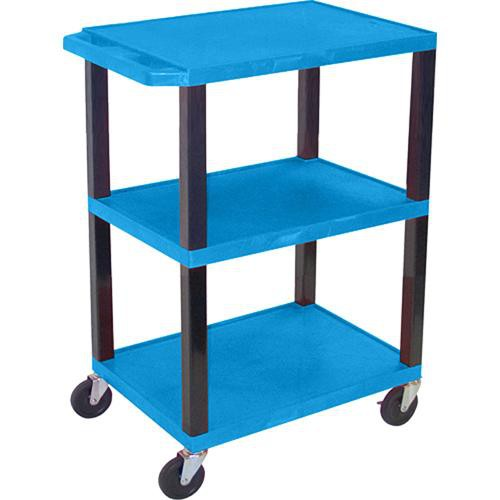 "Luxor WT34SBL Commercial Busing Cart (24 x 34 x 18"", Blue)"