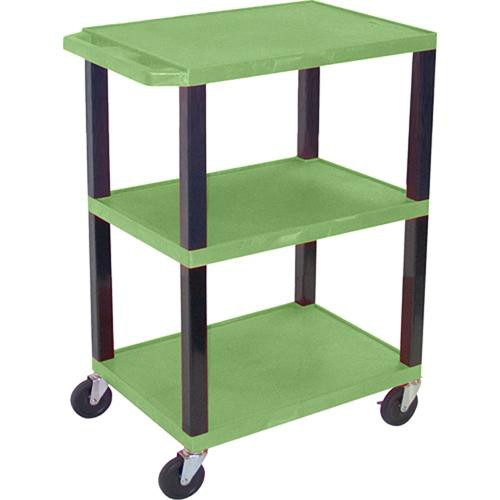 "Luxor WT34SGR Commercial Busing Cart (24 x 34 x 18"", Green)"