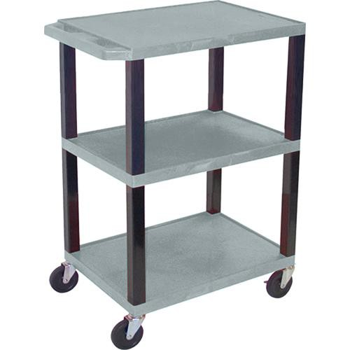 "Luxor WT34SG Commercial Busing Cart (24 x 34 x 18"", Gray)"