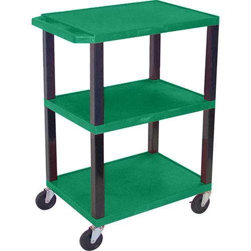 "Luxor WT34SHG Commercial Busing Cart (24 x 34 x 18"", Hunter Green)"