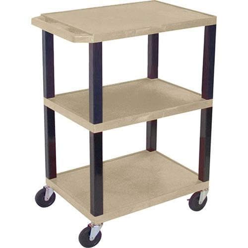 "H. Wilson WT34SPQ Commercial Busing Cart (24 x 24 x 18"", Putty)"