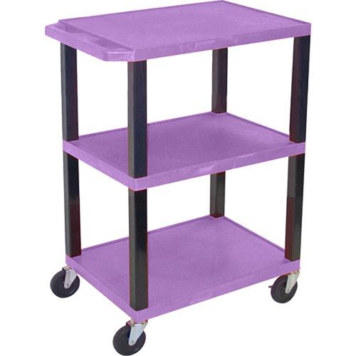 "Luxor WT34SP Commercial Busing Cart (24 x 34 x 18"", Purple)"