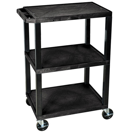 "Luxor WT34S Commercial Busing Cart (24 x 34 x 18"", Black)"