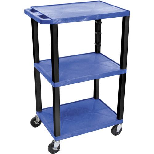 "Luxor WT42EBL  Tuffy Open Shelf Cart (24 x 42 x 18"") (Blue)"