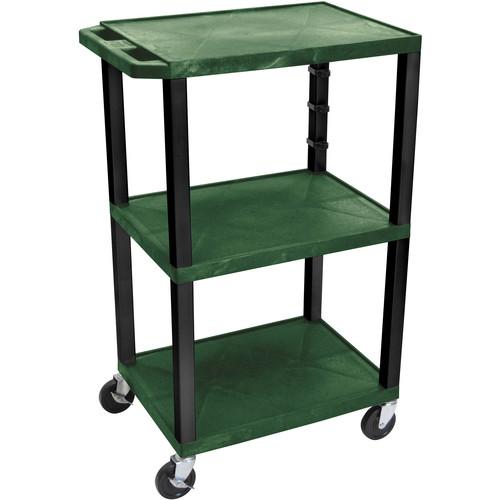 "Luxor WT42EGR  Tuffy Open Shelf Cart (24 x 42 x 18"") (Hunter Green)"