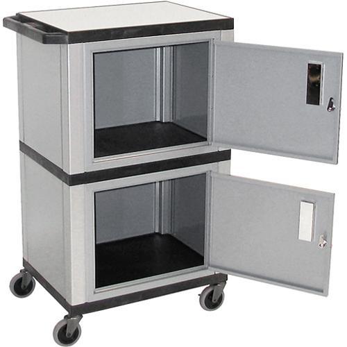 "Luxor WT50-N Tuffy Mobile Dual Cabinet (24 x 42 x 18"", Nickel/Black)"