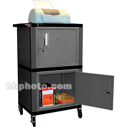 "Luxor WT50  Tuffy Dual Cabinet Storage Cart - 24 x 42 x 18"" (Black)"