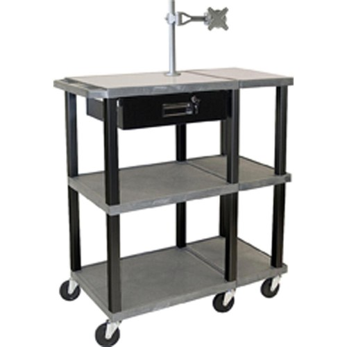 "H. Wilson WTPS72ME Extra Wide Presentation Station (36 x 18 x 42"", Gray)"