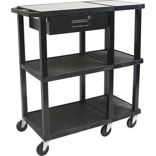 H. Wilson Extra Wide Work Surface Presentation Station (Black)