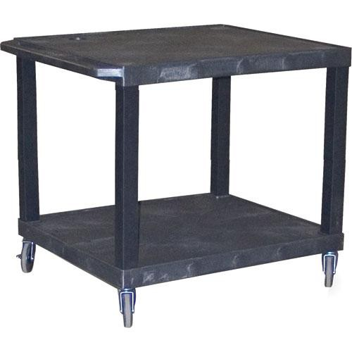 "H. Wilson WTV28E  Tuffy Video Open Shelf Cart - 32x28x24""  (Black)"