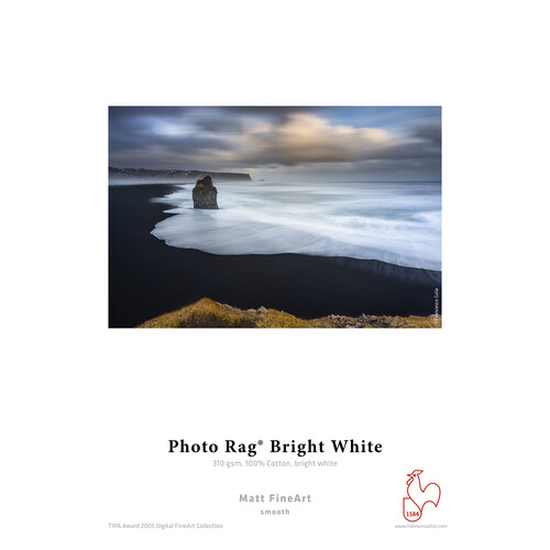 """Hahnemühle Photo Rag Bright White 8.5 x 11"""" Paper (310GSM, 25 Sheets)"""