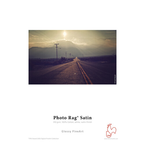 "Hahnemühle Photo Rag Satin (8.5 x 11"", 25 Sheets)"