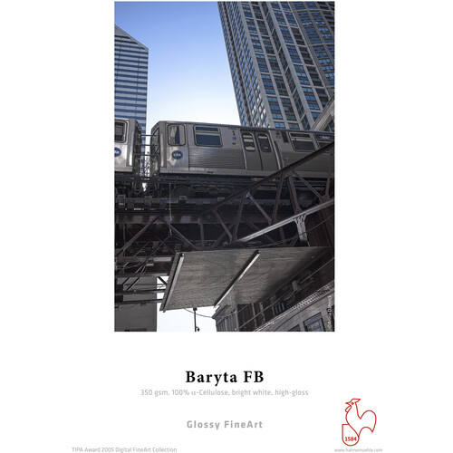 """Hahnemühle Baryta FB 17 x 22"""" Paper - 350 GSM (25 sheets)"""