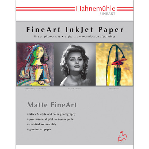 "Hahnemühle William Turner Deckle Edge Matte FineArt Paper (17 x 22"", 25 Sheets)"