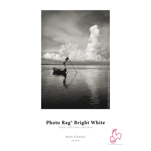 """Hahnemühle Photo Rag Bright White 35 x 46.75"""" Paper (310GSM, 25 Sheets)"""
