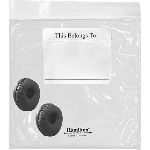 HamiltonBuhl Replacement Ear Cushions and Resealable Bag for MS2L and MS2LV
