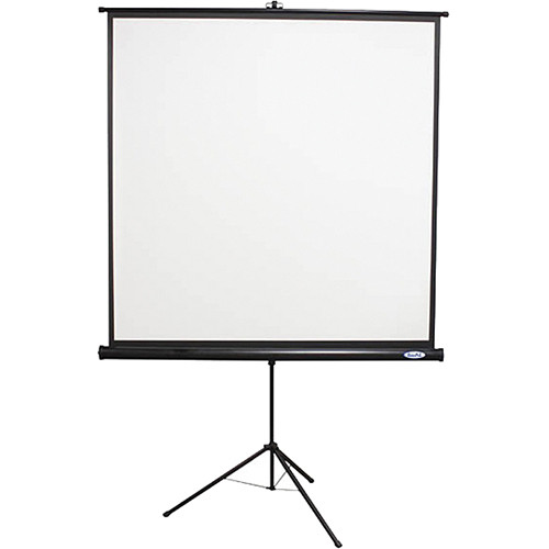 "HamiltonBuhl Value Line Tripod Projection Screen (60 x 60"", Black Housing)"