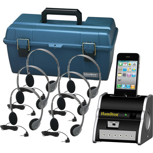 HamiltonBuhl DSIP-HA2 6-User iPhone/iPod Listening Center with HA2 Headphones