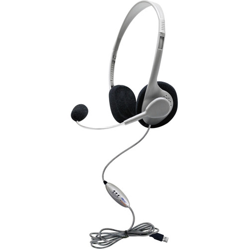 HamiltonBuhl Personal USB Headset with Microphone, In-Lin Volume, and Mute